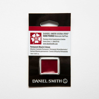 Daniel Smith Watercolor 1/2 Pan Permanent Alizarin Crimson