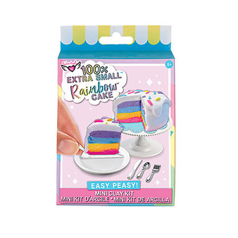 Fashion Angels 100% Extra Small Mini Clay Kit Rainbow Cake
