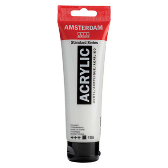 Amsterdam Acrylic 120ml Tube Titanium White