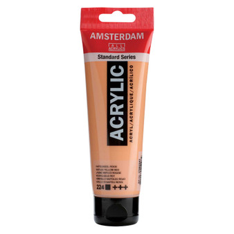Amsterdam Acrylic 120ml Tube Naples Yellow Red