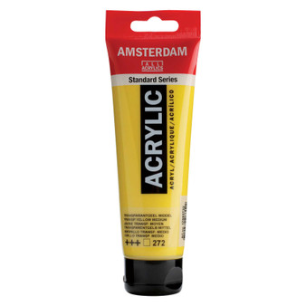 Amsterdam Acrylic 120ml Tube Transparent Yellow Medium