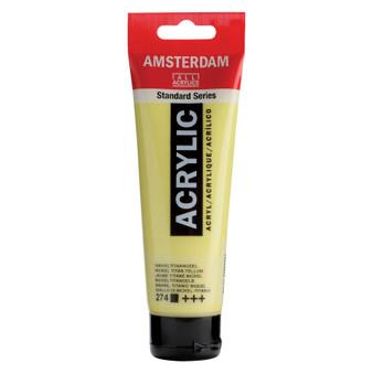 Amsterdam Acrylic 120ml Tube Nickel Titanium Yellow