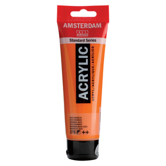 Amsterdam Acrylic 120ml Tube Azo Orange