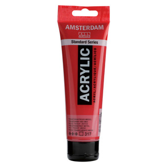 Amsterdam Acrylic 120ml Tube Transparent Red Medium