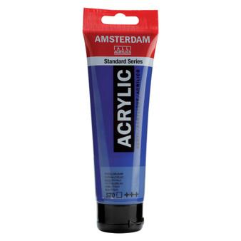 Amsterdam Acrylic 120ml Tube Phthalo Blue