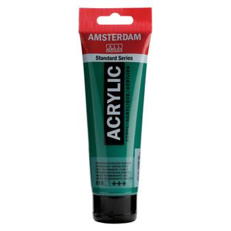 Amsterdam Acrylic 120ml Tube Permanent Green Deep