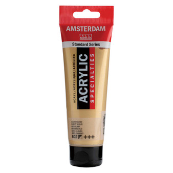 Amsterdam Acrylic 120ml Tube Metallic Light Gold