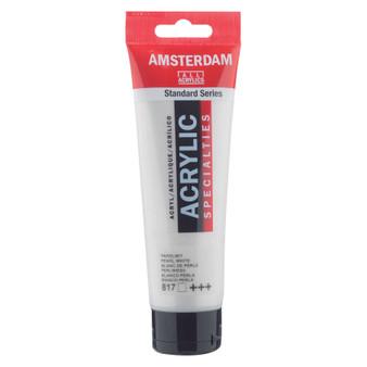 Amsterdam Acrylic 120ml Tube Pearl White
