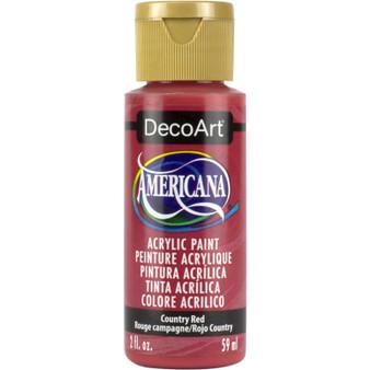 DecoArt Americana Acrylic 2oz Country Red