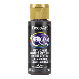 DecoArt Americana Acrylic 2oz Soft Black