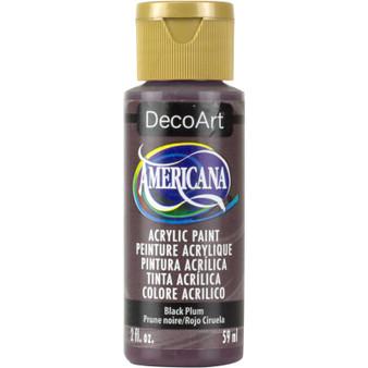 DecoArt Americana Acrylic 2oz Black Plum