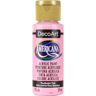 DecoArt Americana Acrylic 2oz Poodleskirt Pink
