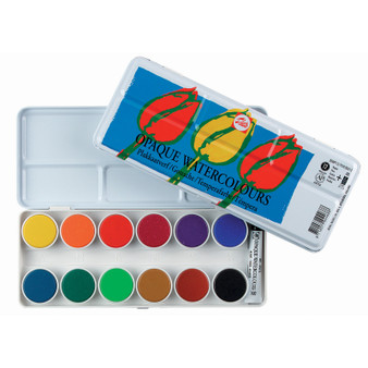 Talens Opaque 12 Color Watercolor Set