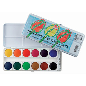 Talens Transparent 12 Color Watercolor Set