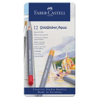 Faber-Castell Goldfaber Watercolor Pencil Tin Set of 12