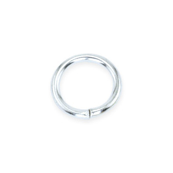 Beadalon Jump Ring Round Silver Plated 6mm 50/Pkg