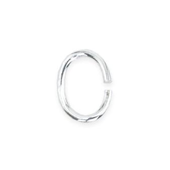 Beadalon Jump Ring Oval Silver Plated 4.5mm x 6mm, 50/Pkg.