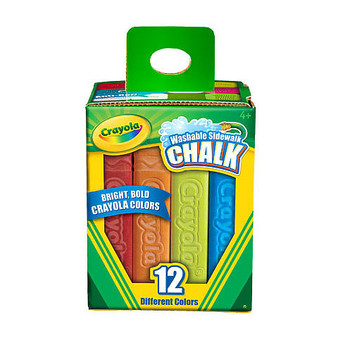 Crayola Washable Sidewalk Chalk 12 Pack