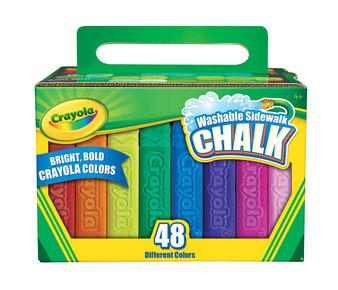 Crayola Washable Sidewalk Chalk 48 Pack