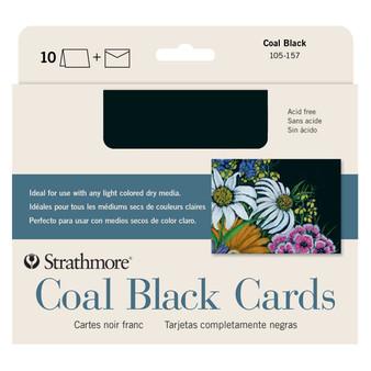 Strathmore 5x7 Coal Black Cards 10 Pack