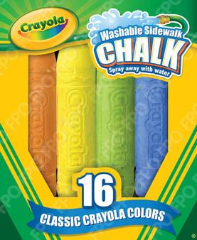Crayola Washable Sidewalk Chalk 16 Pack