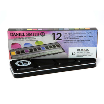 Daniel Smith 1/2 Pan Watercolor Set 12 Colors of Inspiration