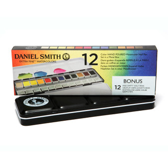 Daniel Smith 1/2 Pan Watercolor 12 Color Tin
