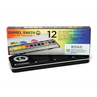 Daniel Smith 1/2 Pan Watercolor 12 Color Tin