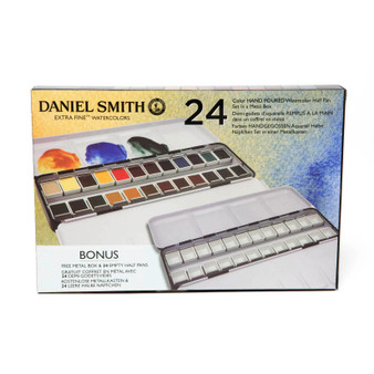 Daniel Smith 1/2 Pan Watercolor Set of 24 Colors