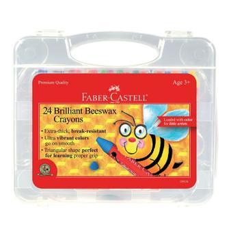 Faber-Castell Jumbo Beeswax Crayons 24 Set