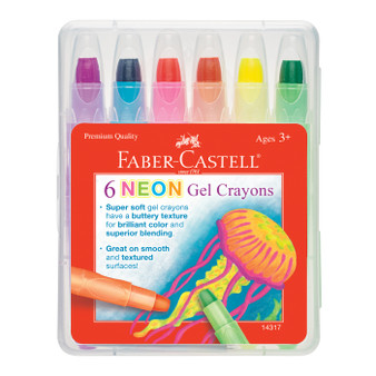 Faber-Castell Neon Gel Crayons 6 Color Set