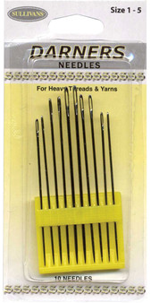 Sullivans Darners Needles 10 Pack Sizes #1-5