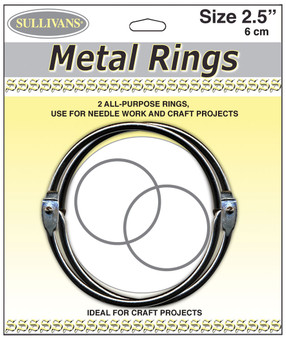 "Sullivans 2.5"" Metal Rings Pack of 2"