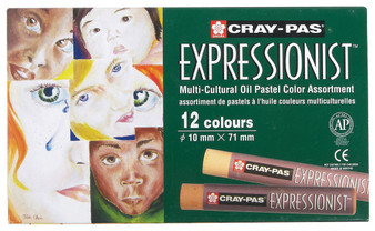 Sakura Cray-Pas Expressionist Oil Pastel Multicultural Set of 12