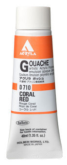 Holbein Acryla Gouache 40ml Coral Red