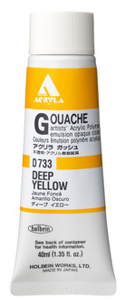 Holbein Acryla Gouache 40ml Deep Yellow