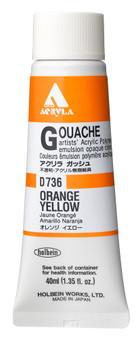 Holbein Acryla Gouache 40ml Orange Yellow