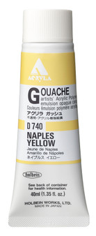 Holbein Acryla Gouache 40ml Naples Yellow