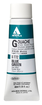 Holbein Acryla Gouache 40ml Blue Green