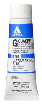 Holbein Acryla Gouache 40ml Ultramarine Blue