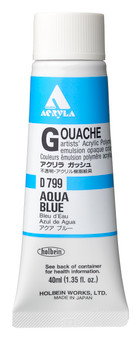 Holbein Acryla Gouache 40ml Aqua Blue