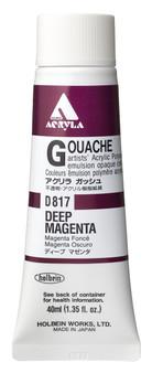 Holbein Acryla Gouache 40ml Deep Magenta