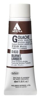 Holbein Acryla Gouache 40ml Burnt Umber