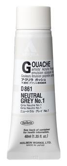 Holbein Acryla Gouache 40ml Neutral Grey #1
