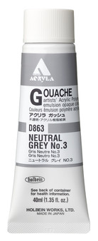 Holbein Acryla Gouache 40ml Neutral Grey #3