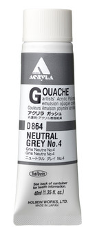Holbein Acryla Gouache 40ml Neutral Grey #4
