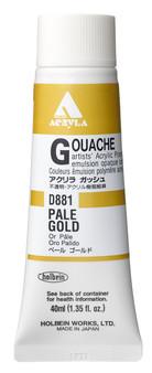 Holbein Acryla Gouache 40ml Pale Gold