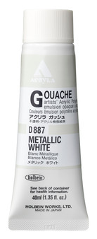 Holbein Acryla Gouache 40ml Metallic White