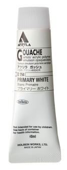 Holbein Acryla Gouache 40ml Primary White
