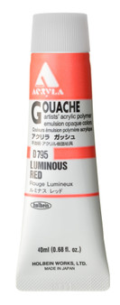 Holbein Acryla Gouache 40ml Luminous Red